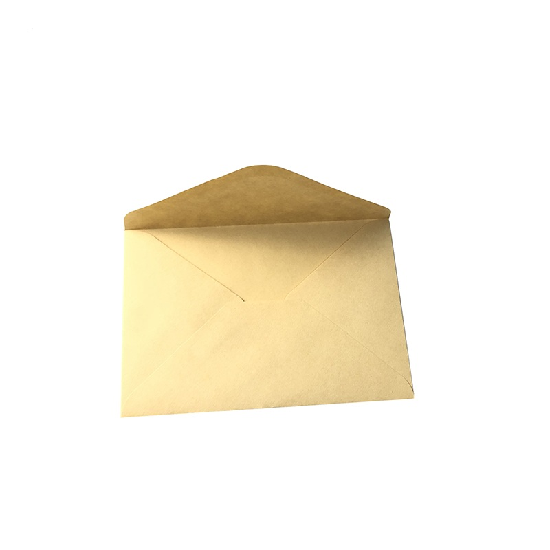 Vintage Brown Beige Mini Paper Window Envelopes Wedding Invitation Envelope