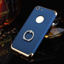 Shockproof 3 in 1 Rotating Ring Stand Chrome Armor Hard Back Case Cover For iphone6