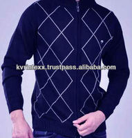 blue fashion desinger winter sweater