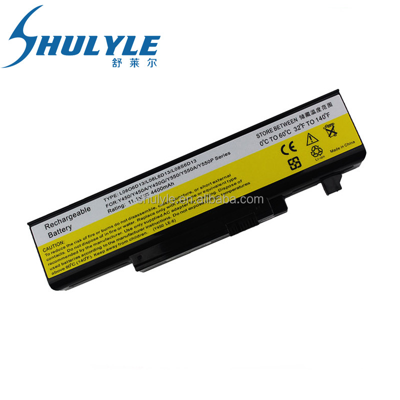 Extended Computer Battery for Lenovo IdeaPad Y450 Y450A Y550 Y550A L08L6D13 L08O6D13 L08S6D13 4800mAh