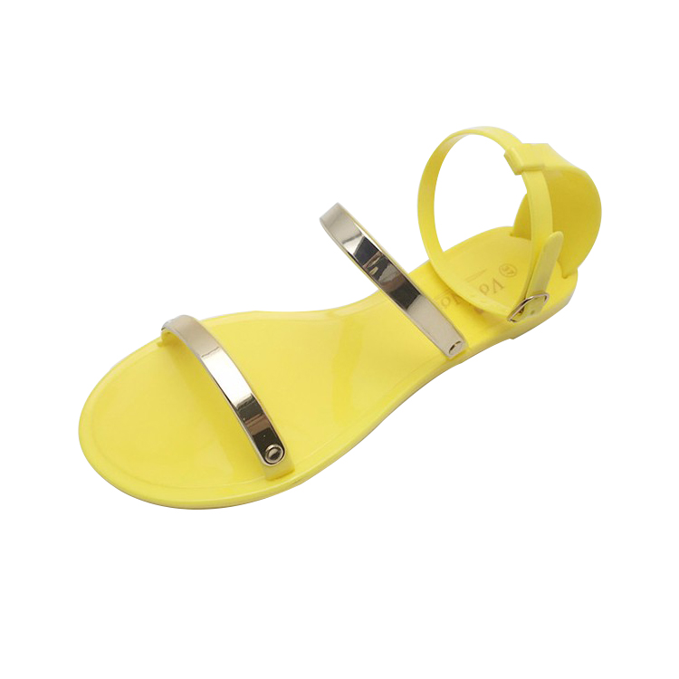 new design ladies silver spa sandals