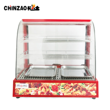 Electric Counter Top Glass Food Warmer Display Showcase Fast Food Restaurant Equipment