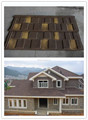 Stone and metal coated roofing tile