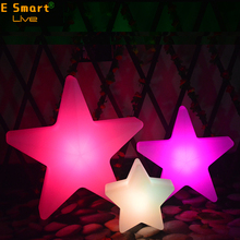 16 color changing plastic material led light star with christmas tree outdoor decorations