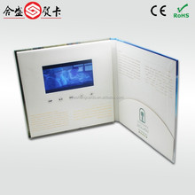 Handmade paper crafts lcd video card,wholesale video brochure,digital video player greeting card with muti-button for option