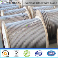 AISI304 7x7 bright stainless steel wire rope 1.5mm-YC METAL