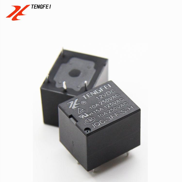 Circuit Board Relay Jqc-3ff 10a 5 Pin 5v 9v 12v 24v Sealed Relay - on