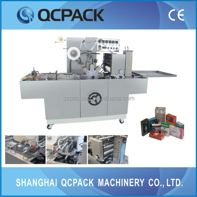 CE approved Automatic cigarette perfume box cellophane wrapping machine