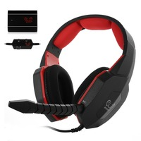6 in 1 Optical Decoder Video Game Headset Gaming Headphone Detachable Microphone for PC/MAC /XBOX 360/PS3/PS4