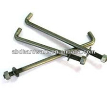 L shaped anchor bolts