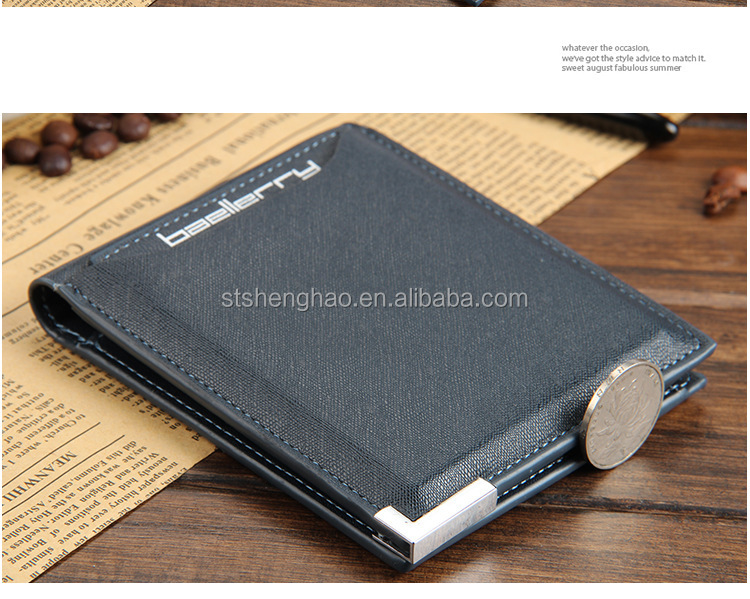 new style cross with vertical section for man wallets
