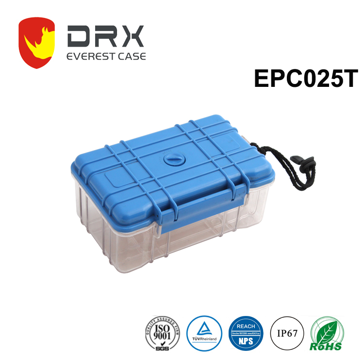 Plastic Equipment Case Clear Blue Tool Box Medical Carrying Cases