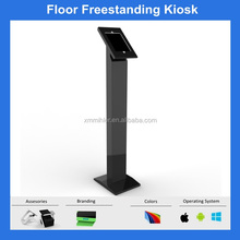Anti-theft Metal Freestanding Ipad/Samsung/POS Kiosk tablet rotating floor stand