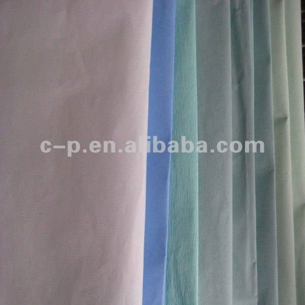 Free Samples EO Sterile Medical Wrap Crepe Paper for Packing Surgical Device with CE&ISO13485 Certificated