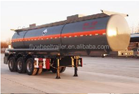 China High quality caustic soda NaOH transport tank truck semi trailer