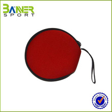 Customized cheap neoprnene round cd bag with zipper