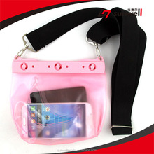 Fancy custom mobile phone pvc waterproof bag with good quality