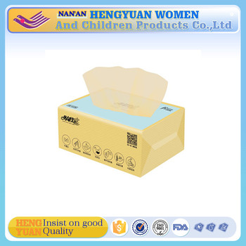 bamboo tissue paper unbleached family use 100% virgin bamboo facial tissue