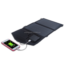 Canvas fabric 7W folding solar charger with inner voltage controller for phone, camping etc