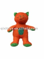 Plush and stuffed Halloween cat , orange Halloween toy