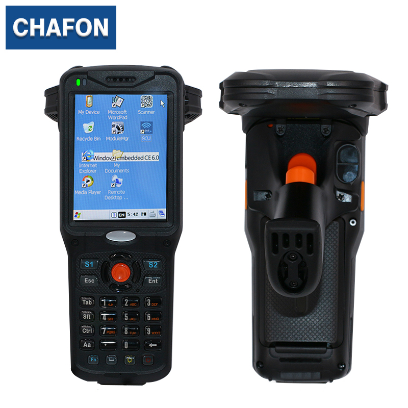 Bluetooth WiFi GPRS barcode uhf reader with handheld device