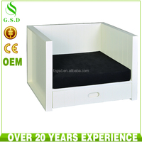 wholesale high quality cheap small white wooden pet dog house , cat house