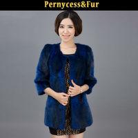 Ladise' latest designed mink fur coat,designer clothing manufacturer in China