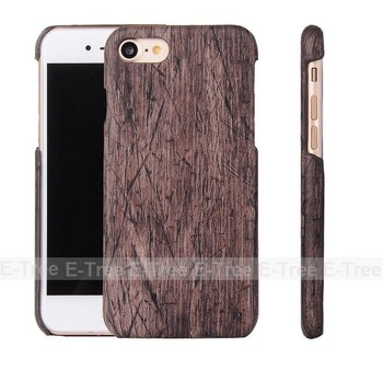 2016 new style for apple iphone 7 cover case leather wood pattern, phone case for iphone 7 leather case