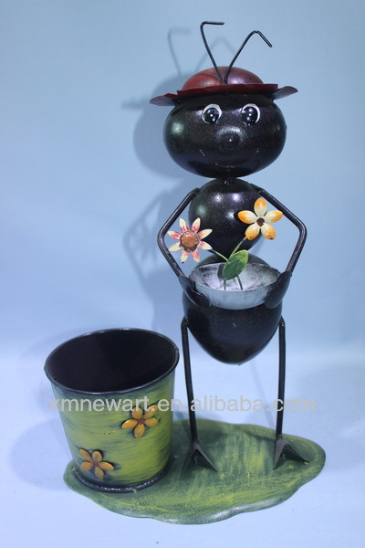 planters pot mini metal animal garden decor
