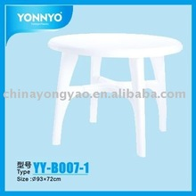 Outdoor Plastic Table with Umbrella hole