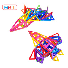 MNTL-65Pieces Magnetic Creative Blocks Toy For Kids Building Construction Set Toy Plastic Magnetic Educational Blocks