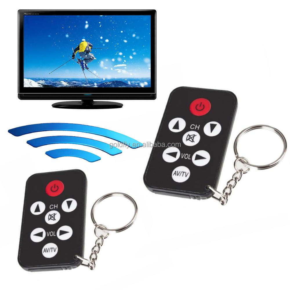 Black Mini Universal Infrared IR TV Remote Control <strong>Controller</strong> 7 Keys Button Keychain Key Ring Wireless Smart Remote <strong>Controller</strong>