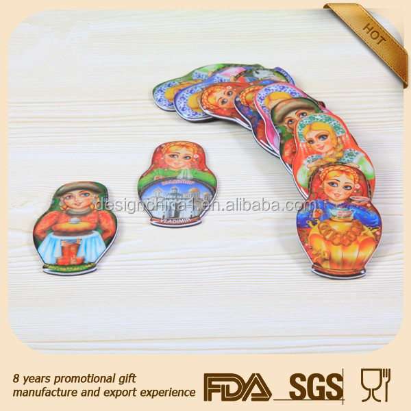 Resin fridge magnets tourism souvenir factory supply