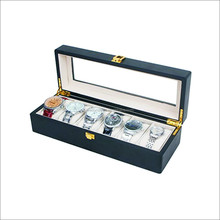 6 slots wood watch box display case glass top jewelry collection storage boxes organizer high quality
