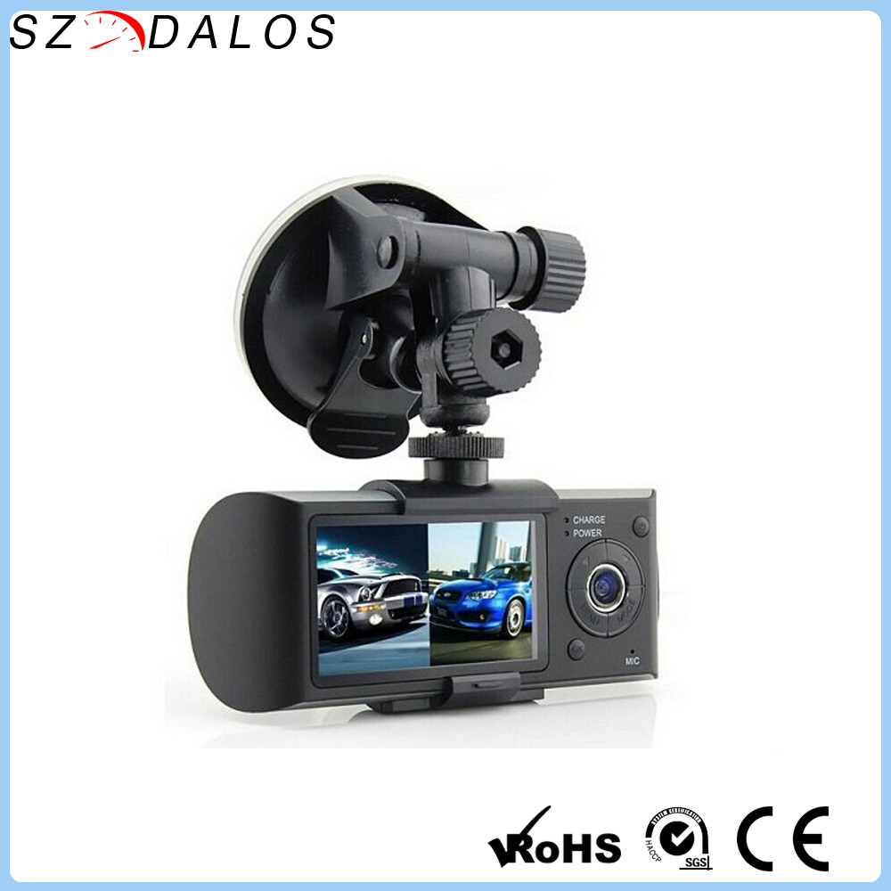 High quality X3000 R300 Security camera inside car/gps g-sensor dual camera car dvr/dash cam in car video