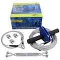Sress Free Set Up Blue Dog Trolley Zip Line Kit with 60' Main Cable, Turnbuckle and 5' Sling Cable