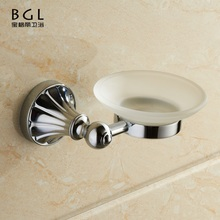 Hot selling Luxury Zinc alloy chrome polished soap Dish holder for shower