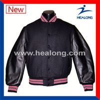 Healong Sublimation Brand Name American Polyester Baseball Jacket