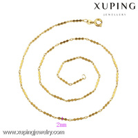42262-Xuping Fashion Gold Jewelry Chain Necklace Design For Women