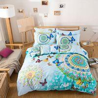 4-Pieces Indian Patterns Cotton Bedding Set Queen Bed Set Duvet Cover Bed Sheet Pillow Case Bed Linen Housse De Couette