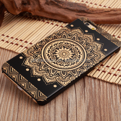 Phone Cases Producer,New Brand Black Wood Laser Engraving Cell Phone Cover For iphone 6Plus