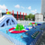 Metal frame dragon swimming pool,sharp portable swimming pool