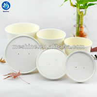 Disposable food grade paper salad bowl