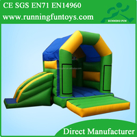 Top sale PVC plastic castle playhouse, bouncy castle with slide,play tent princess castle
