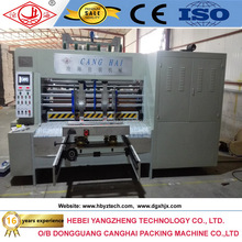 hebei cangzhou high quality easy operation carton box flexo ink printing slotter die-cutter machine