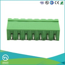 UTL Pins Terminal Block Connector 2-24 Way / Plug In Wire Terminal Blocks 7.62Mm CE