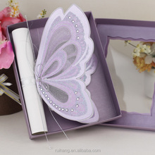 Royal Purple Color Vivid Butterfly Shaped Wedding Invitations