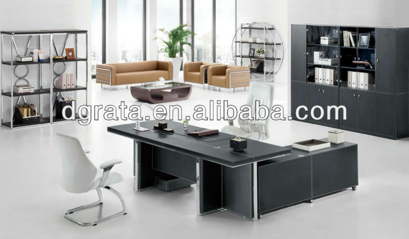 2013 office furniture manager desk,office furniture executive desk,black office desk was made of melamine board