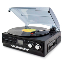 OEM Classic 6 in 1 Full Function Audio Turntable Phonograph Gramophone Record Player With USB SD Casette