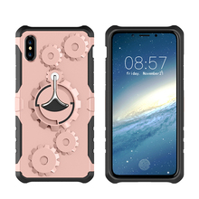 3D Case for iPhone X Detachable Hard PC + Soft TPU with Armband and Kickstand for iPhone X Phone Cover Case